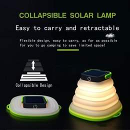 solar lights for camping tent NZ - Portable LED Telescopic Lamp USB Solar Charge camping lights IP67 Waterproof solar led outdoor lighting for Emergency tent lights