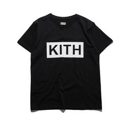 $enCountryForm.capitalKeyWord NZ - Men Clothing Summer Mens T-shirts KITH Fashion Letters Printed Tee Cool Short Sleeved Crew Neck Tees Man Women White Black Tops wholesale