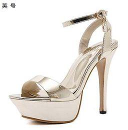 023582d4248 New Sandale Summer Platform Diamond Women Sandals Shoes Female Sexy Ultra  High Heels 14CM Ladies Shoes 2018 Model Catwalk Shoes