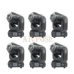 $enCountryForm.capitalKeyWord Australia - 6Pcs lots Moving Head Light 90W LED With 3 Face Prism Spot Light With Rotation Gobo Function DJ Disco Stage Light Wedding Show