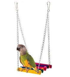 stand parrots 2019 - Parrot Articles Bird Toys Colorful Suspension Bridge Swing Standing Bar Standing Frame Xuanfeng Tiger Skin Peony Bite To