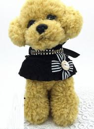 Cartoon Towel Dog Australia - Black lace Bib dog mouth towel pet Necklace cat Necklace pet supplies