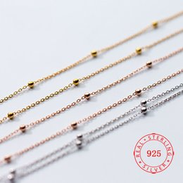 $enCountryForm.capitalKeyWord Australia - Hot sale popular 2019 pure 925 sterling silver simple 2mm round bead chain bead side chain short necklace for girls women