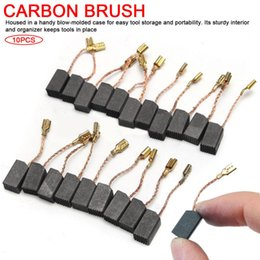 $enCountryForm.capitalKeyWord Australia - 10PCS Graphite Copper Motor Carbon Brushes Set Tight Copper Wire for Electric Hammer Drill Angle Grindern 15*8*5mm