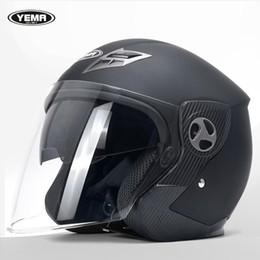 Bicycle Off Road Australia - Free Shipping YEMA-622 Motorcycle Electric Bicycle Helmet Adult motocross Off Road Helmet with Double Lenses Motorbike Helmet