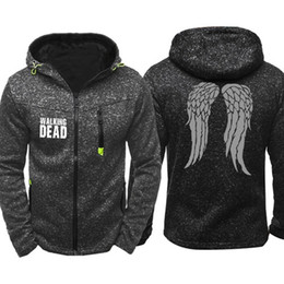$enCountryForm.capitalKeyWord Australia - Spring Autumn Walking dead Zippered Hoodie Men Leisure Sweatshirt Cardigan Jacket Coat Male Hip Hop Hoody Tracksuits Streetwear