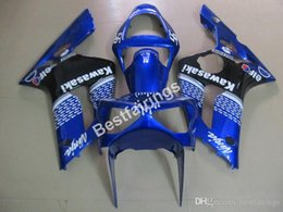 $enCountryForm.capitalKeyWord Australia - Injection molding free customize fairing kit for Kawasaki Ninja 636 ZX6R 03 04 blue black fairings kits ZX6R 2003 2004 MT09