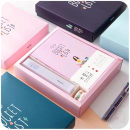 $enCountryForm.capitalKeyWord Australia - Cute Kawaii Korean Stationery Hand books 100 Bucket TO DO List Notebook A5 Planner Diary Journal Agenda Filofax Notepad Gift Set