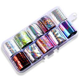 $enCountryForm.capitalKeyWord Australia - NEW-10 Grid Nail Star Paste Color Transfer Film UV Gel Nail Sticker Diy Art Decoration 2.5x100cm