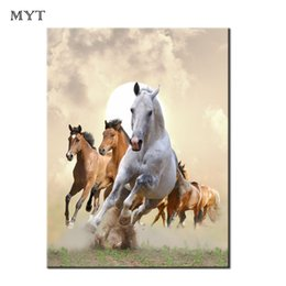 Spray Painting Room NZ - 1 Piece Wall art Painting Running Horses HD printed Picture Modern Home Decor for Living Room Animal Canvas Print Oil Painting Unframed