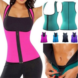 Wholesale Fashion Sexy Womens Ladies Neoprene Body Shaper Slimming Waist Slim Belt Vest Underbust Thin Firm Shapers Blue Pink Black
