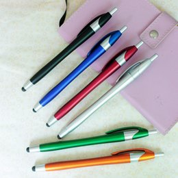 $enCountryForm.capitalKeyWord Australia - Custom Logo Universal Capacitive Stylus Pen for Iphone 7 7plus 6 6S 5 5S Touch Pen for Cell Phone For Tablet Different Colors