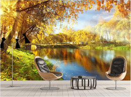 Decorative pictures for beDrooms online shopping - 3d wallpaper custom photo mural Fresh and beautiful beautiful lakeside scenery decorative painting wall home decor wall art pictures