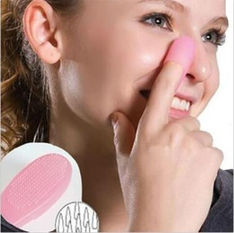nose blackhead brush 2019 - Nose Blackhead Remover Tool Silicone Cleaner Brush Massager Finger Stick Extractor Pore Cleaning Brush Cleansing Tools C