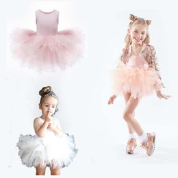 Chinese  Baby Tutu Dresses Jumpsuits Children Ballet Skirt Baby Vest Skirt Children Flamboyant Skirt High Elasticity 100% Nylon Fold 58 manufacturers
