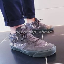 52ce01e66c Vans x Wtaps Vault Half Cab LX Digi Camo Old Skool women Casual shoes  Skateboard mens Canvas Sports Running Shoes Sneakers size 36-44