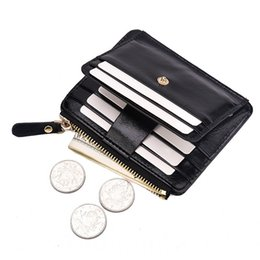 $enCountryForm.capitalKeyWord Australia - Fashion Men Coin Purse Men Leather Wallets Zipper Pouch Money Bags Male Mini Purses High Quality Card Holder Coin Small Pusres