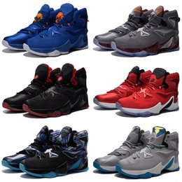 brand new 48b34 d08b7 Cheap new Mens Lebron 13 XIII basketball shoes Kids shoes Blue Black Gold  BHM Christmas Easter Halloween flights sneakers tennis for sale