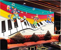$enCountryForm.capitalKeyWord Australia - 3d wallpaper custom photo Cute clown cartoon festival performance music theme piano singing decor 3d wall murals wallpaper for walls 3 d