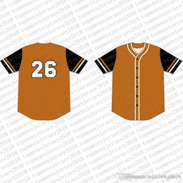 baseball jersey tops Australia - 2020 Top Custom Baseball Jerseys Mens Embroidery Logos Jersey Free Shipping Cheap wholesale Any name any number Size M-XXL 15