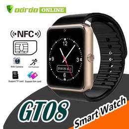 smart watch phone language french NZ - Touch Screen Smart Watch gt08 With Camera Bluetooth WristWatch Support SIM Card Smartwatch For Ios Android Phones Multi language