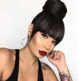 26 Inch Straight Wigs Australia - Lace Front Human Hair Wigs Glueless Malaysian Straight Full Lace Wigs with Baby Hair 6-26 inches Natural Color Virgin Hair