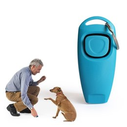 media keys Australia - Hot Sale Combo Pet Dog Training Whistle Clicker Trainer Aid Guide With Key Ring Dog Supplies WCW595