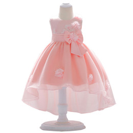 newborn baby girl wedding dress 2019 - Flower Dresses Newborn 2019 Summer Cute Baby Girls Dress Solid Girls Dress for Party and Wedding Clothing Kids Birthday