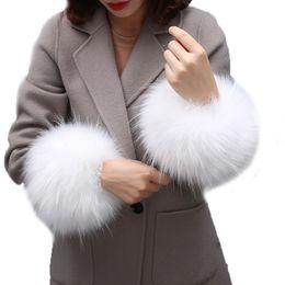 Wholesale Raccoon Fur Collars Australia - Super huge faux raccoon fur huff fake fur wrist warmer cute coat sleeve decor scarves collar creative hand warmer