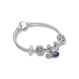 jewelry beads europe 2019 - 2019 Authentic 925 Sterling Silver Original Stylish Shimmering Wish Europe Bracelet Set Fit Women Bangle Bead Charm DIY