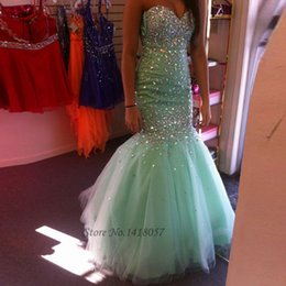 $enCountryForm.capitalKeyWord Australia - Vestidos de Baile Mint Green Mermaid Prom Dress Crystals Long Evening Gowns 2016 Ballkleider Buy Direct From China