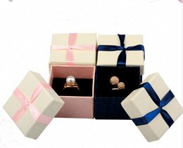 $enCountryForm.capitalKeyWord UK - Free Shipping 100pcs lot 5*5*3.5cm Pink Box For Jewelry Ring Carring Cases Wedding Gift Packaging Paper Boxes
