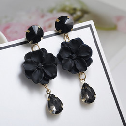 d2df0ee6e Korean Style Flower Earrings for Girl Women Rond Circle Hoop Earrings 2018  Statement Colorful Petal Circle Big Fancy Jewelry