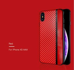 Fiber Max Australia - For Iphone XR XS MAX X 8 7 6S plus cell phone case carbon fiber leather texture case cover for Samsung Galaxy S8 S9 S10 PLUS luxury