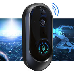 Smart doorbell camera online shopping - New P Smart Video Doorbell Wireless Home Security Camera Batteries Way Talk Night Vision PIR Detection Camera top quality