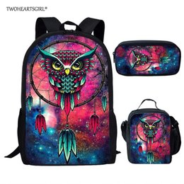 cool school bags for boys UK - Twoheartsgirl Cartoon Print School Bag Sets for Children Boys Girls Cool Middle Student Kids Schoolbag Primary Book Bags