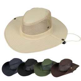 a48f727bdfdb6 Boonie Hat Sport Solid Jungle Military Cap Adults Men Women Cowboy Wide Brim  Hats Fishing Packable Army Bucket Hat AAA1947