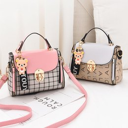 $enCountryForm.capitalKeyWord NZ - New Cute Type Ladies Pu Handbag High Quality 2019 Hot Sale Small Girls Exquisite Color Matching Casual Fashion Small Square Bag