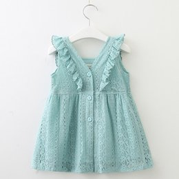 Children Straight Gown Styles Australia - Baby girls princess skirts 3 colors children lace dress kids boutiques clothes with Lotus Leaf summer design tutus