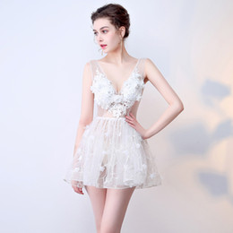 $enCountryForm.capitalKeyWord Australia - 2019 new Sexy perspective loading model annual meeting night show costumes backless lace flower short tutu skirt short skirt dress