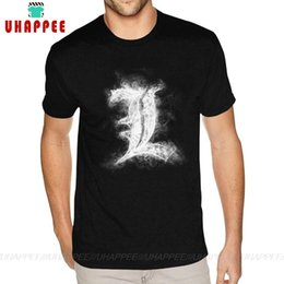 Wholesale death notes online – design Short Sleeves Round Collar Cotton Death Note Tee Shirts Quality Teenage S T Shirt