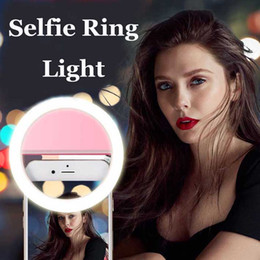 Селфи Кольцо Свет Фото Кольцо Свет Портативная Вспышка LED Камера Ночь Улучшение Фотографии Видео для iPhone Sumsung Smartphones на Распродаже
