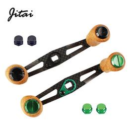 $enCountryForm.capitalKeyWord NZ - JITAI 8*5mm 7*4mm 100% Carbon Fishing Reel Rocker Rubber Cork Handle Knob Baitcasting Reel Handle With 7*4mm Assembly Adapter