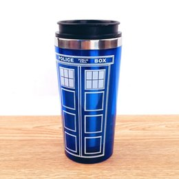 $enCountryForm.capitalKeyWord UK - Free Shipping Doctor Dr. Who Tardis Coffee Cup Stainless Steel Interior Thermos Mug Thermomug Thermocup 450ml Quality C19041302