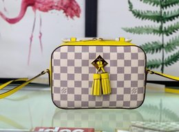 $enCountryForm.capitalKeyWord Australia - N43557 yellow Fringed decorative camera WOMEN HANDBAGS ICONIC TOP HANDLES SHOULDER BAGS TOTES CROSS BODY bag CLUTCHES EVENING