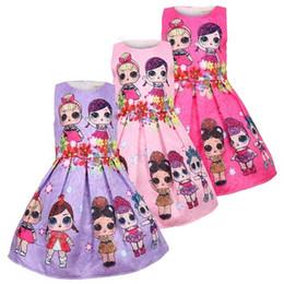 ElEgant cotton online shopping - Baby Dresses Y Summer Cute Elegant Dress Kids Party Christmas Costumes Children Clothes Princess Lol Girls Dress