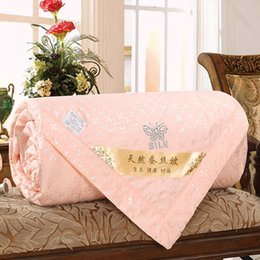 cool blankets 2019 - Sub-cooled Blanket For Home Baby Summer Cool Thin Spring And Autumn Quilts Natural Silk Sanding Air Conditioning Quilt