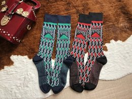 Wholesale vintage cotton stockings resale online - New Designer Cotton Socks stockings for Women Luxury Ladies Brand Vintage Long Knee Sock Stocking Gifts Factory Sale S997