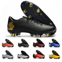 Chinese  2019 Fashionl yellow mens soccer shoes Mercurial superfly 360 VII Elite SG AC soccer cleats Neymar football boots chuteiras sneakers manufacturers