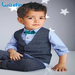 $enCountryForm.capitalKeyWord Australia - Wisefin Boys Children Spring Gentleman Denim Suit For Formal Kid Wedding Clothes Elegant Boy Evening Clothing Party Q190604